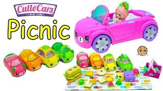 Download Cutie Cars Picnic with Shoppies Doll Shopkins Happy Places Petkins Car + Surprise Blind Bags Video