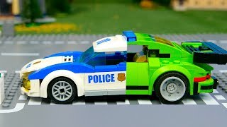 Download Lego Wrong and experemental police cars and truks , Brick Building Animation video for Kids Video