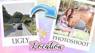 Download Ugly Location Photoshoot Challenge HORSE EDITION | felinehoi Video