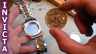 Download INVICTA Watch Repair Glass Crystal replace battery reserve specialty remove movement crown case Video