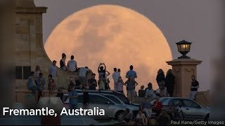 Download Spectacular photos of the rare November supermoon Video