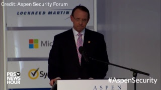 Download WATCH: Deputy Attorney General Rod Rosenstein expected to make a cybersecurity announcement Video