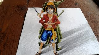Download Drawing 3D Luffy and Zoro from One piece Video