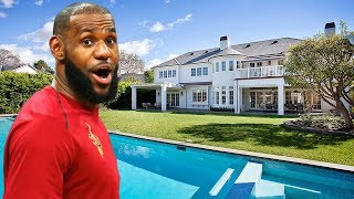 Download Lebron James's Incredible House in Los Angeles (Inside & Interior & Exterior)   2018 NEW HD Video