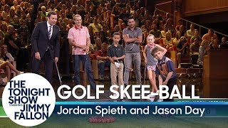 Download Kid Golfers Play Golf Skee-Ball Against PGA Tour Stars Jordan Spieth and Jason Day Video