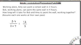 Download Math Word Problem: Task Completion Team Time - Two Workers Video