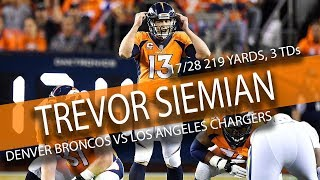 Download Trevor Siemian Highlights vs Chargers // 17/28 219 Yards, 3 TDs // 9.11.17 Video