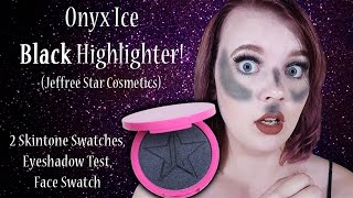 Download Onyx Ice (BLACK Highlighter!) Jeffree Star Cosmetics Face Swatches, Use, & Review Video