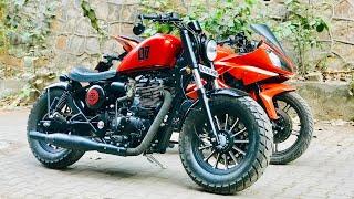 Download Royal Enfield | bike modification | Into Harley davidson I R15 Modified | Bobber Style | Vampvideo | Video