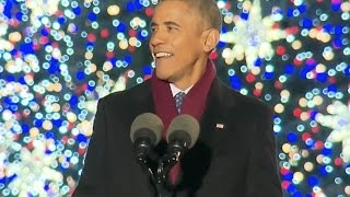 Download Obama Jokes At Christmas Tree Lighting Video