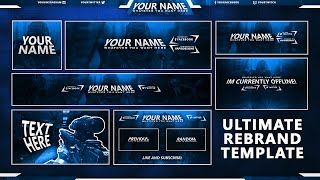 Download Free GFX: Free Social Media Pack / Twitch, Youtube & Twitter Templates Video