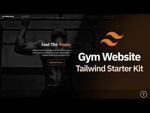 Build a Gym Website Using The Tailwind Starter Kit