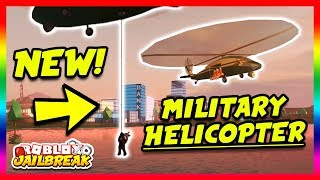 Download NEW MILITARY HELICOPTER! NEW ESCAPE ROUTE! (Roblox Jailbreak New Update) | 🔴 Roblox Jailbreak LIVE Video
