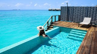 Download Inside a Water Pool Villa, Kuramathi, Maldives Video