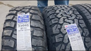 Download What's the best truck tire? BF Goodrich truck tire comparison Video