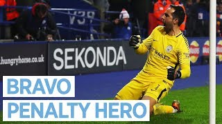 Download BRAVO SAVES THE DAY! I Leicester 1-1 City (3-4 PENS) I Carabao Cup I 2017 18 Video
