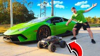 Download MY LAMBORGHINI vs 100MPH RC CAR RACE! Video