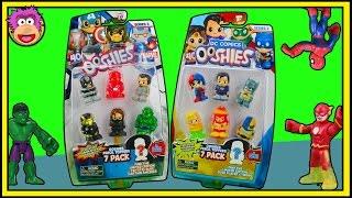 Download Hulk, Spiderman & Flash open Ooshies Marvel Series 2 & DC Ooshies Series 2 - 7 Packs @ OzToyReviews Video