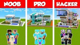Download Minecraft NOOB vs PRO vs HACKER: SAFEST FAMILY HOUSE BUILD CHALLENGE in Minecraft / Animation Video