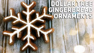 Download Dollar Tree Ornament Makeover - DIY Gingerbread Snowflake Cookie - Christmas 2019 Video