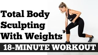 Download Strength Training for Women, 18 Minute Total Body Sculpting Time Saver Workout Video