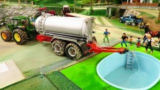 Download RC TRACTOR ACTION - A new Swimming Pool on the farm / rc toy fun Video