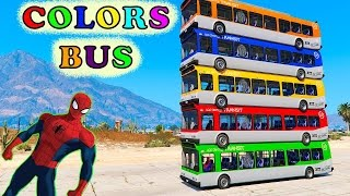 Download Color Cars Bus & Limousine Spiderman Cartoon For Kids & Fun Colors Video