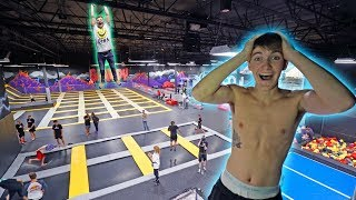 Download WORLD'S BIGGEST TRAMPOLINE PARK TO OURSELVES! *INSANE* Video