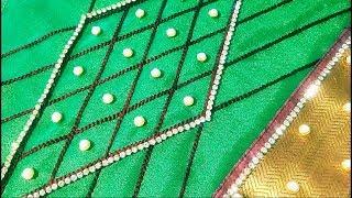 Download Silk saree beads work sleeve Video