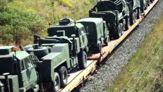 Download CN 2235, CN 8803 - Ultra Rare Canadian Military Train - Westbound - Lovekin, ON. Video