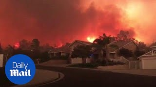 Download Mandatory evacuation orders have been issued as the Holy Fire rages - Daily Mail Video
