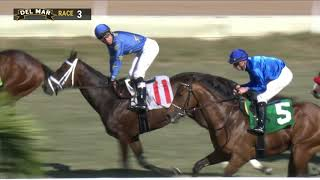 Download Smooth Like Strait wins Cecil B. DeMille Stakes (Grade III) race 3 at Del Mar 12/1/19 Video