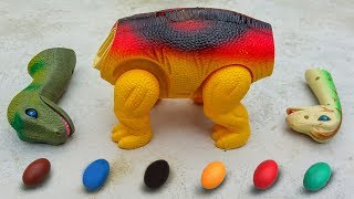 Download Dinosaur Walking and Laying Eggs Toys Learn Colors & Numbers for Children #2 - G238A Video
