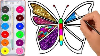 Download Drawing for Kids | Butterfly, And Many | Picture Coloring Pages Video