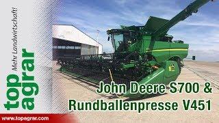 Download Markteinführung: John Deere S700 Mähdrescher und V451 Rundballenpresse Video