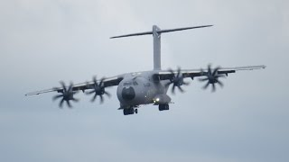 Download Airbus A400M Atlas short landing and Reverse Thrust RIAT 2014 12 July Air Show Video