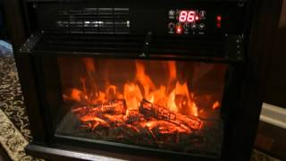 Download XtremepowerUS Infrared Quartz Electric Fireplace Heater Video