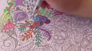 Download Speed Coloring with Gel Pens : Lost Ocean by Johanna Basford Video