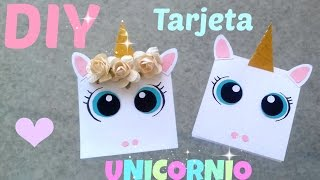 Download ♡ DIY ♡ Tarjeta de UNICORNIO ♡ Detalles para Regalar Video