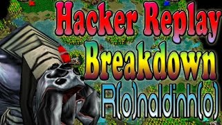 Download Warcraft 3 - Hacker Replay Breakdown R(o)naldinh(o) (1v1 #49) Video