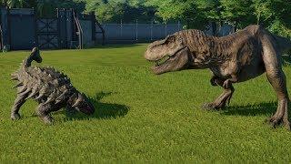 Download Ankylosaurus(Fully Modified) VS T-Rex, I-Rex, I-Raptor, Spinosaurus and Allosaurus - JWE Video