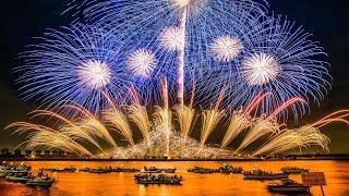 Download [4K Ultra HD] 桑名水郷花火大会 2017 2尺玉17発! NTN100周年記念 超特大仕掛花火 - Kuwana Suigo Fireworks Festival - Video