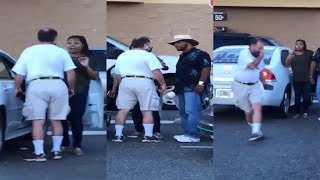 Download Black Man Steps In To Protect Pregnant Woman From Raving Lunatic Video