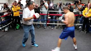 Download Explosive Golovkin training with trainer Abel Sanchez before Monroe fight Video