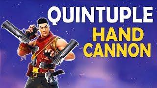 Download QUINTUPLE HANDCANNON | HANDCANNON ONLY CHALLENGE | 5 DEAGLES - (Fortnite Battle Royale) Video