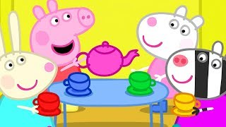 Download Peppa Pig Full Episodes | Dens - the Tea Party | Cartoons for Children Video