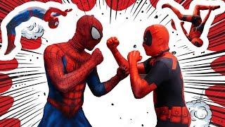 Download Deadpool VS Spiderman In Real Life (Parkour, Trampoline, Stunts) Video