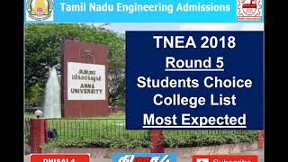 Download TNEA 2018 | ROUND 5 | MOST EXPECTED COLLEGES | BEST COLLEGES IN ROUND 5 | தமிழ் Video
