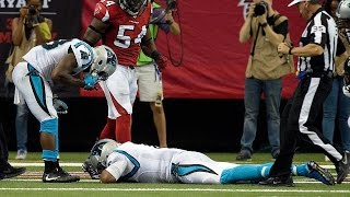 Download Cam Newton Suffers Brutal Concussion, Taken Out Of Game Video