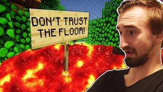 Download YOU CANT TOUCH THE FLOOR - THE FLOOR IS LAVA IN MINECRAFT Video
